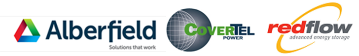 Alberfield Covertel Redflow Logo